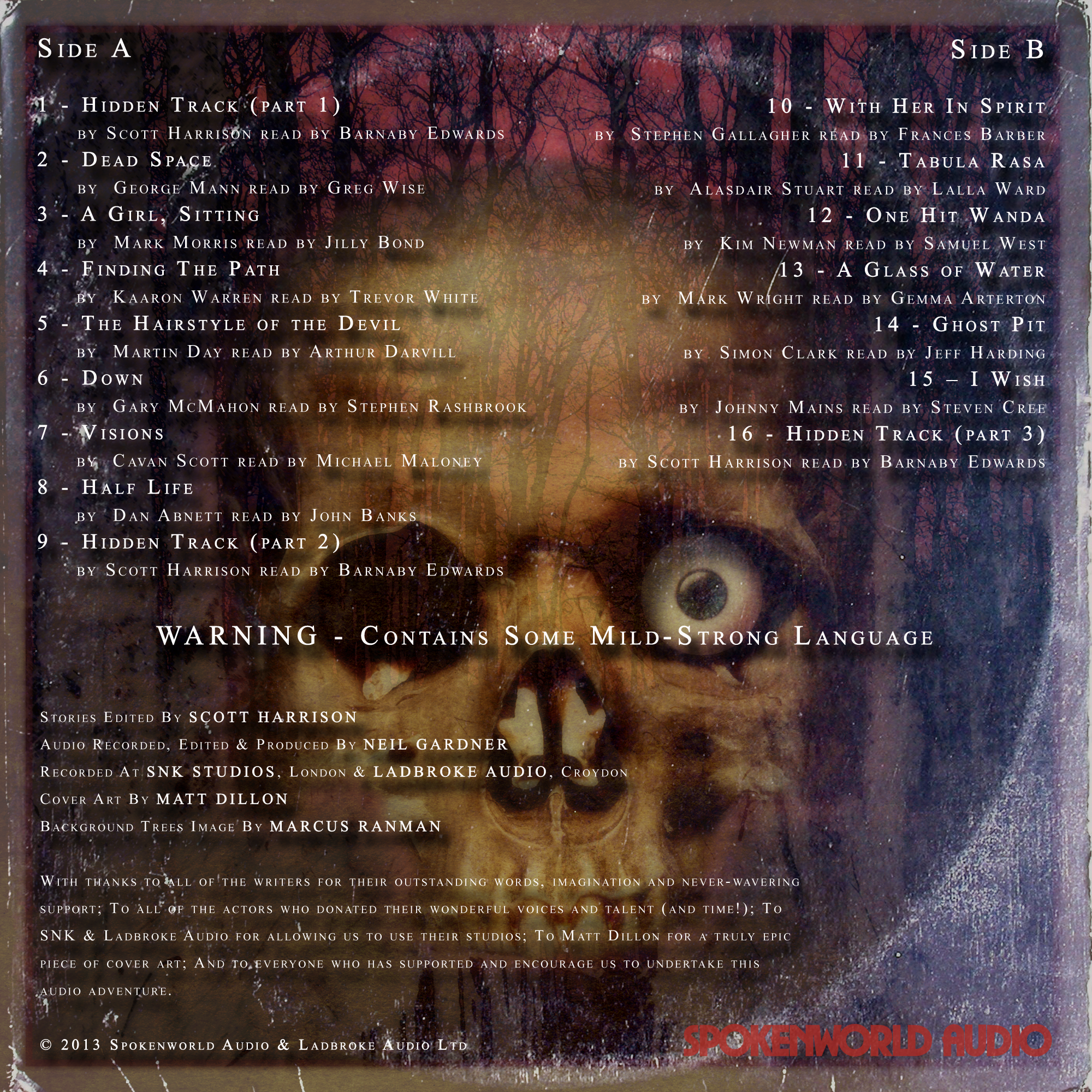 Thirteen - Back Cover 2000